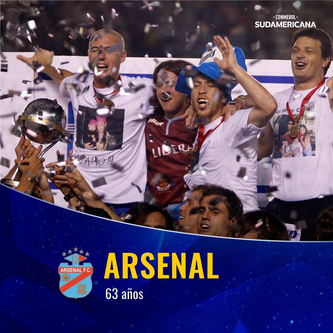 🎉👏¡Feliz cumpleaños, @ArsenalOficial! El campeón de la #Sudamericana 2⃣0⃣0⃣7⃣ celebra hoy 6⃣3⃣ años.