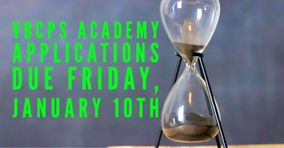 One week from today! #EBA #GSA #GSWLA #HSA #IB #LSA #MSA #TA #VPAA @vbschools @KempsAcademy