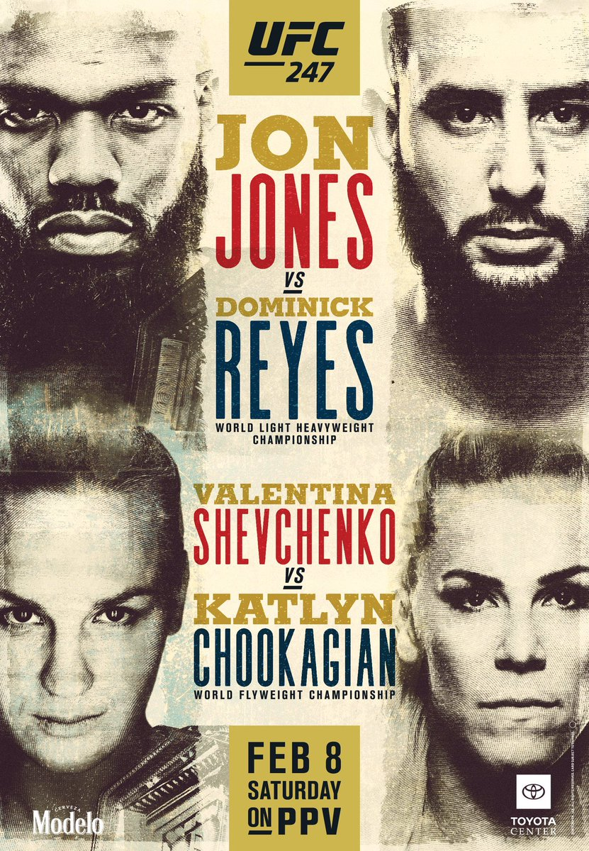 UFC 247 Jones vs Reyes poster