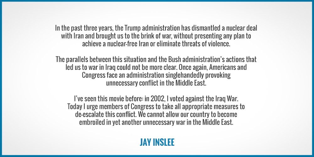 We cannot allow our country to become embroiled in yet another unnecessary war in the Middle East.