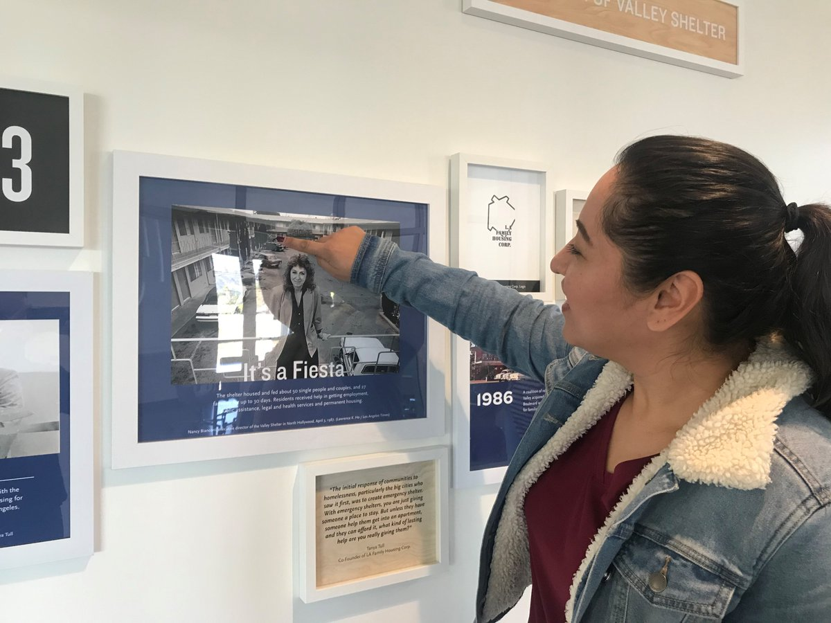 (2/4) During a tour of our Campus, they saw an image where their old room used to stand at the Valley Shelter.
