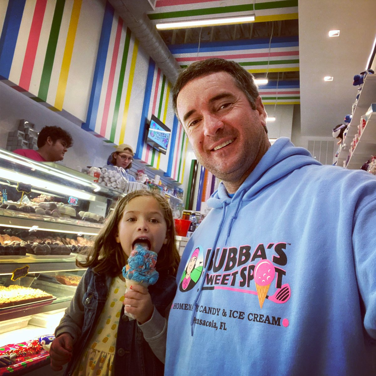 Date night with Dakota & we always stop by @BubbaSweetSpot!! #PensacolaLife #SupermanIceCream