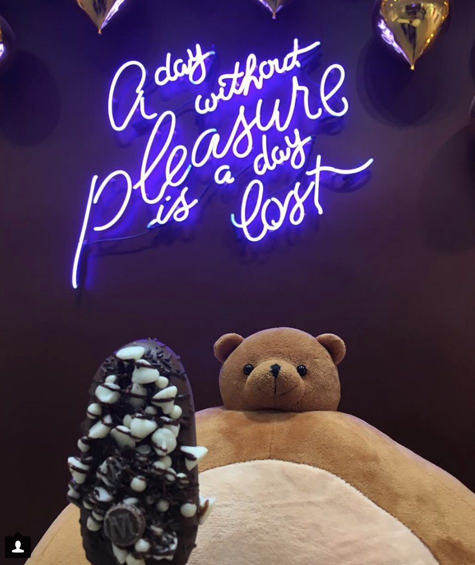 If a day without pleasure is a day lost, then a day without chocolate is a day misplaced. #thk #tinyheads #tinyheadsbighearts #plush #plushie #toys #cutecharacters #plushiesofinstagram #spiritanimal #plushielife #plushiecommunity #plushieadventures