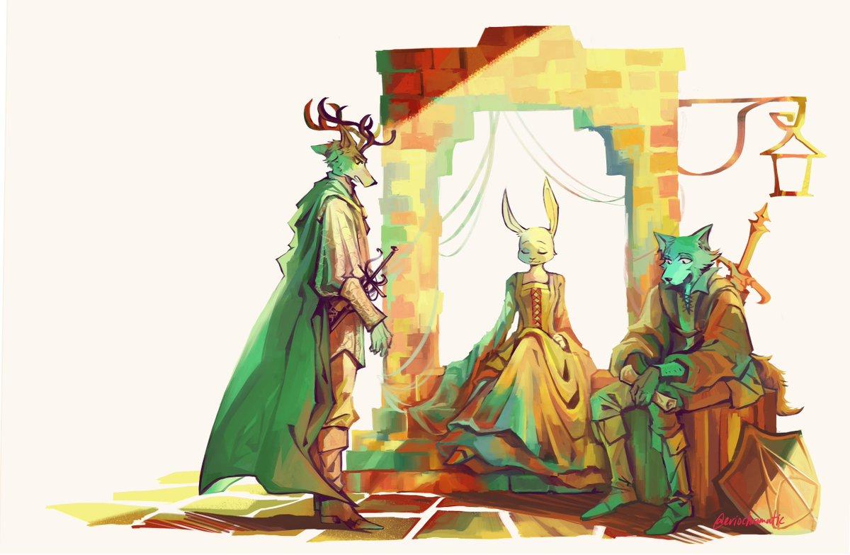 #BEASTARS #beastarsfanart [Medieval AU] The Prince, the Lady, and the Knight <br>http://pic.twitter.com/ioJYZJiCY9