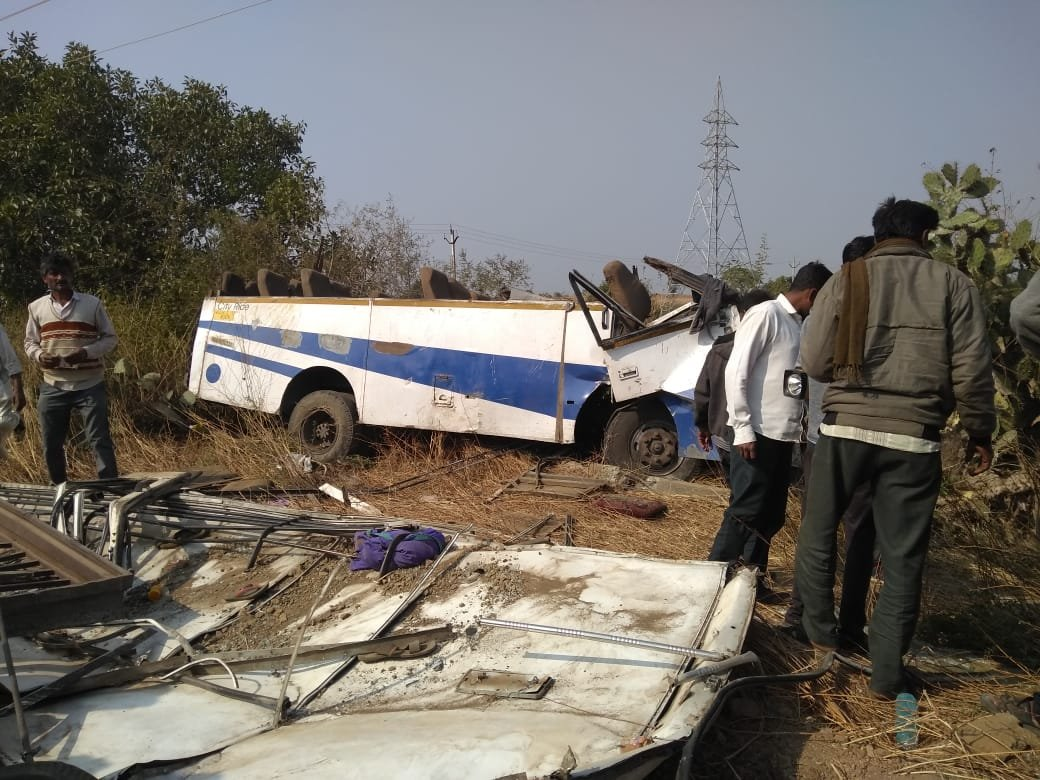 Bus hits electric pole in Saurashtra region of Gujarat, 4 dead, 23 injured
