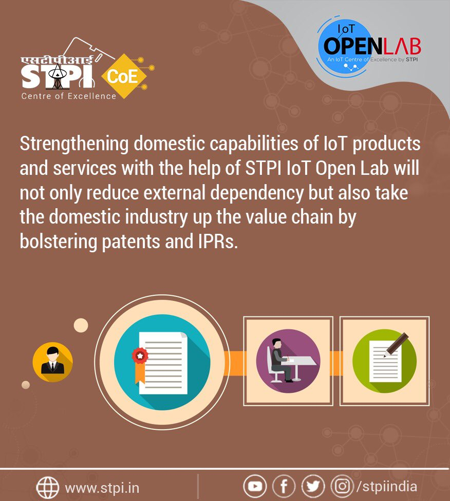 With the Indian #IoT market touching $9 billion mark, #STPIIoTOpenLab is poised to bring disruption in #RnD & innovation in this space by nurturing #startups & propelling innovative product development to reduce imports & help domestic companies boost #IPRs. #STPICoEs @Omkar_Raii<br>http://pic.twitter.com/a3qMfdoAeF