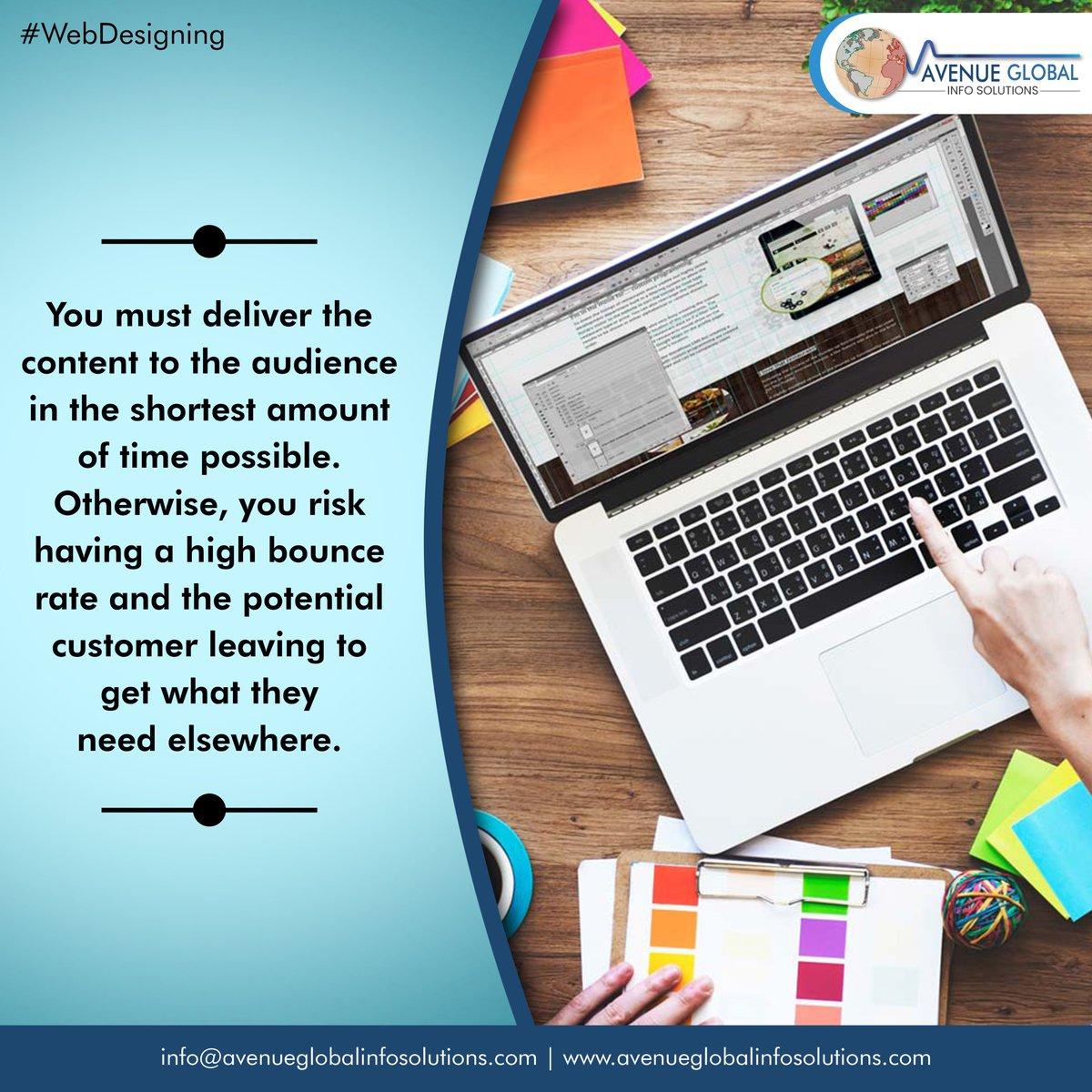 Webdesigning tips!!  #content #whywebdevelopment #webdesigncompany #websitedeveloper #webdesigntips #instatech #instatechno #socialmediamarketing #Avenueglobalinfosolutions #avenueglobal #AGIS #Webdesigning #Digitalmarketing #Websitedevelopment #websitebuilder #ITcompany #Punepic.twitter.com/9rYl6blJvt