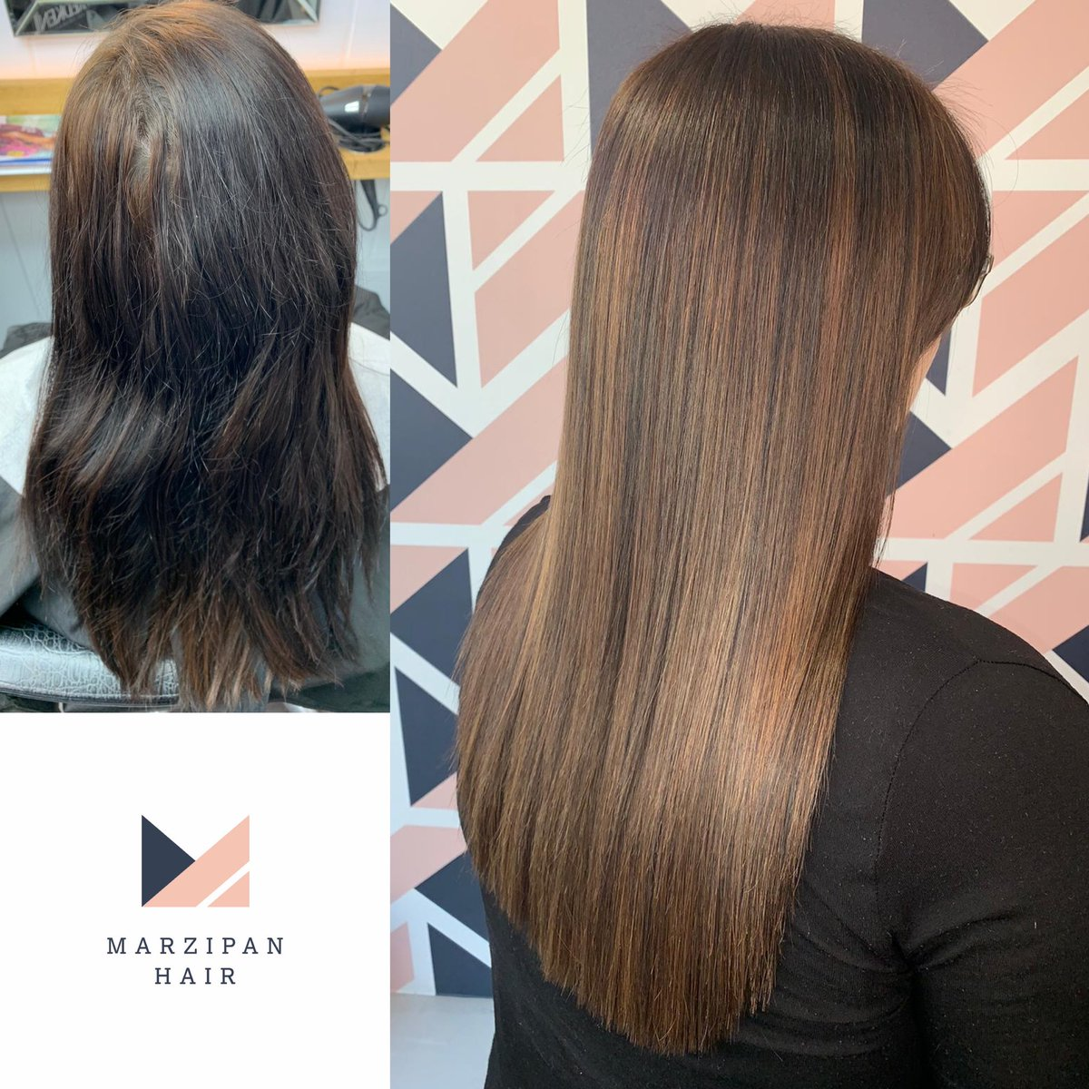 A gorgeous result from Kim. Check out the before! #colourcorrection #redken #truro #cornwall #balayage #marzipanhair @redkenuk
