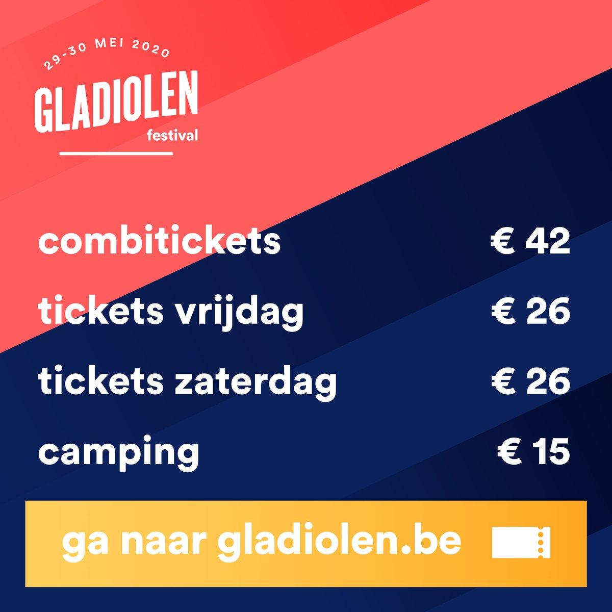 Tickets voor Gladiolen 2020 zijn vanaf nu te koop via https://t.co/d0WruhG2U0 https://t.co/ZFYHNgxVKY