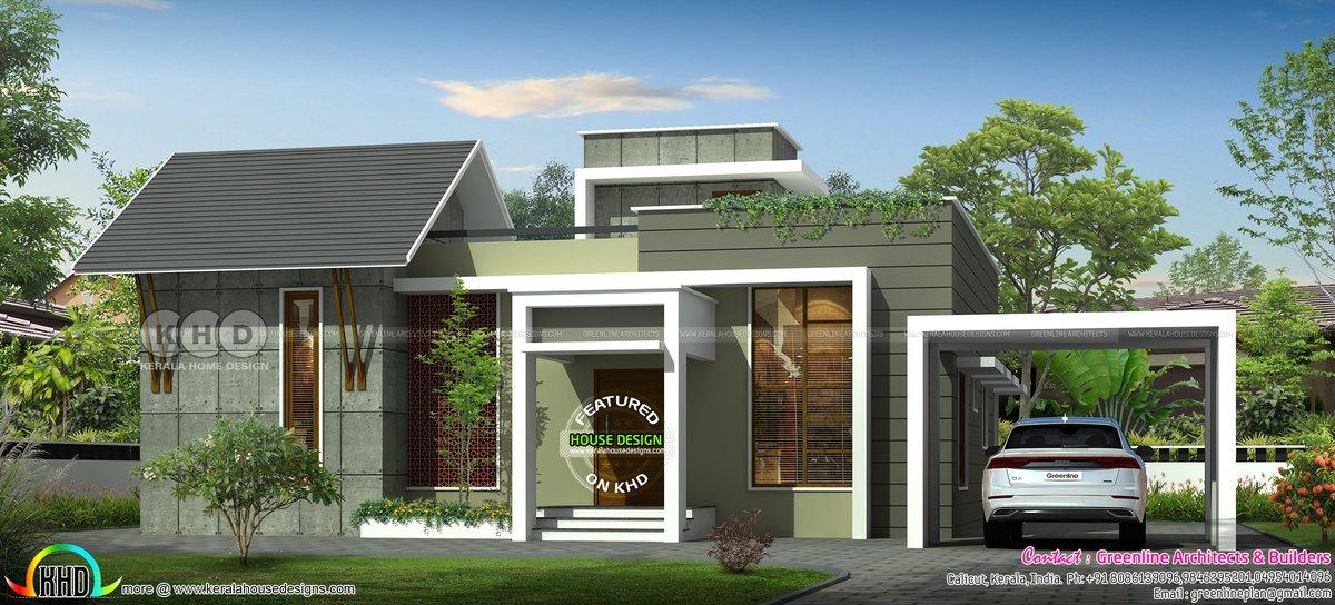 Kerala Home Design Khd On Twitter Unique Single Floor House Plan Https T Co Hebajv5wy0
