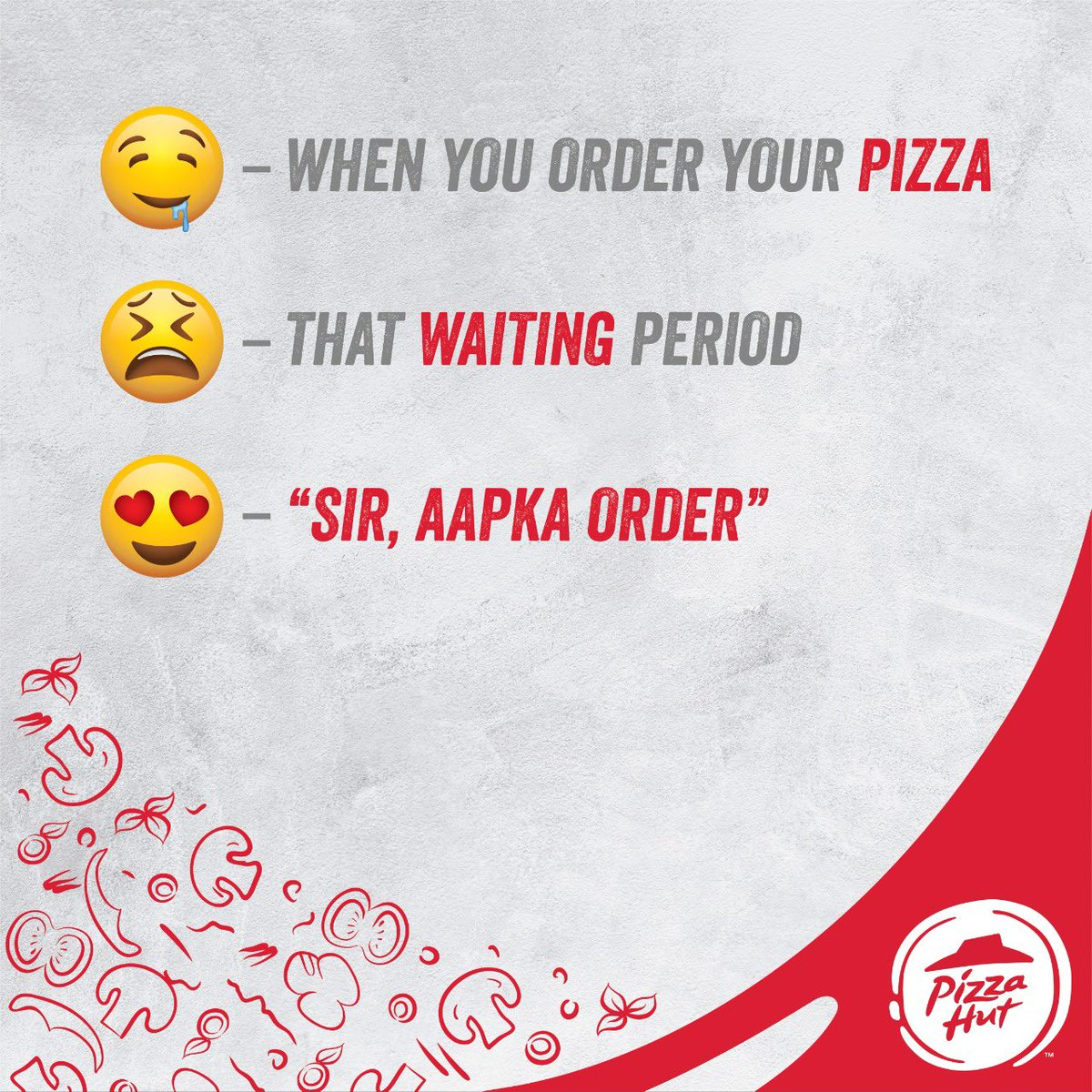 Whats your face like when you see your favorite pizza Tell us in an emoji in the comment section below. https t