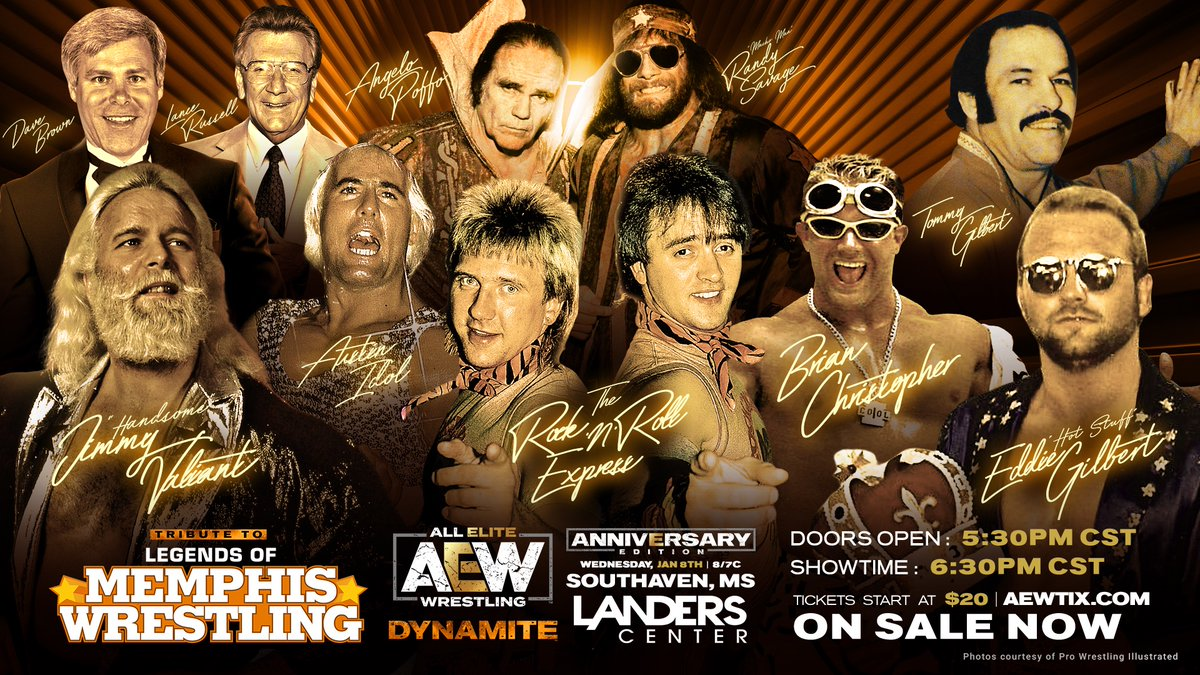 AEW Announces Memphis Wrestling Legends To Be Honored On This Wednesday's Dynamite