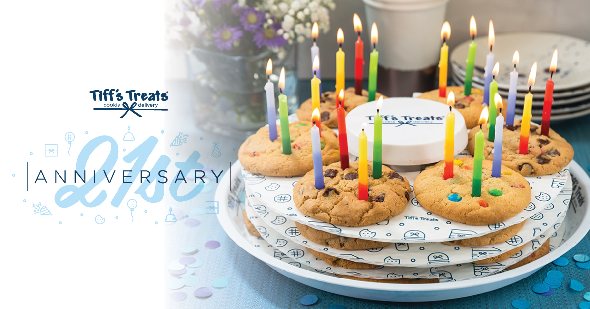 @tiffstreats is 21 & Random Acts has been picked as part of their charity competition ▪ go to cookiedelivery.com ▪ use RANDOM20 at checkout ▪ 10% of the sale goes to us At months end the charity with the highest sales also gets a $10K donation! Order 🍪for a great cause!