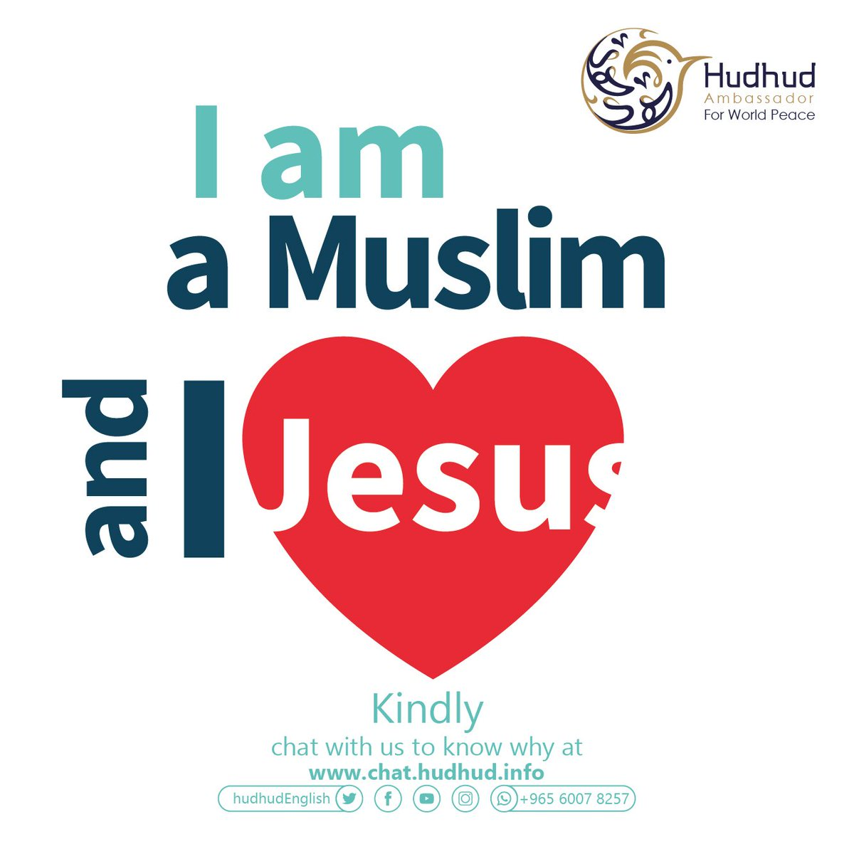 I am a #Muslim and I #Love #Jesus.  Kindly, chat with us to know why at:   https:// chat.hudhud.info      #ShareYourAnswer #Hudhudchat #APOLOGIZETOX1<br>http://pic.twitter.com/CigjGqJpwT