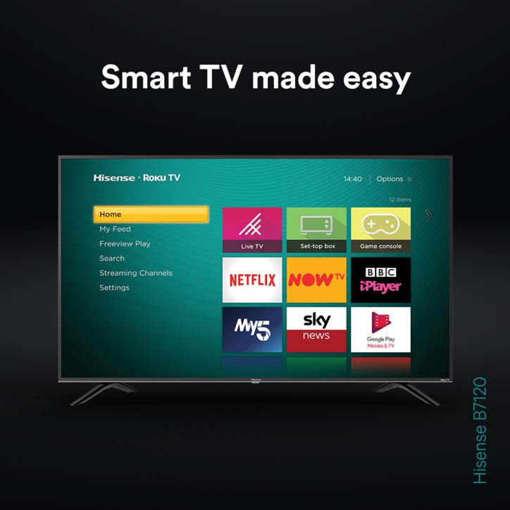 It's more than a smart TV 🙌  Grab the Hisense and @RokuUK B7120 TV today 👉 http://bit.ly/Hi-B7120