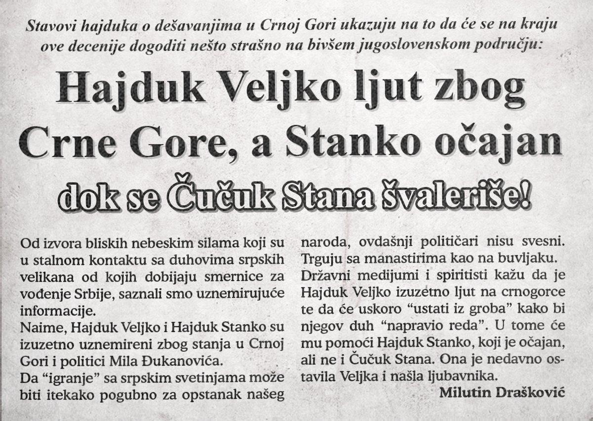 Hajduk Veljko ljut zbog Crne Gore, a Stanko – očajan!!!