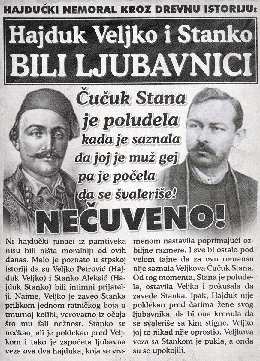 Hajduk Veljko i Stanko su bili ljubavnici