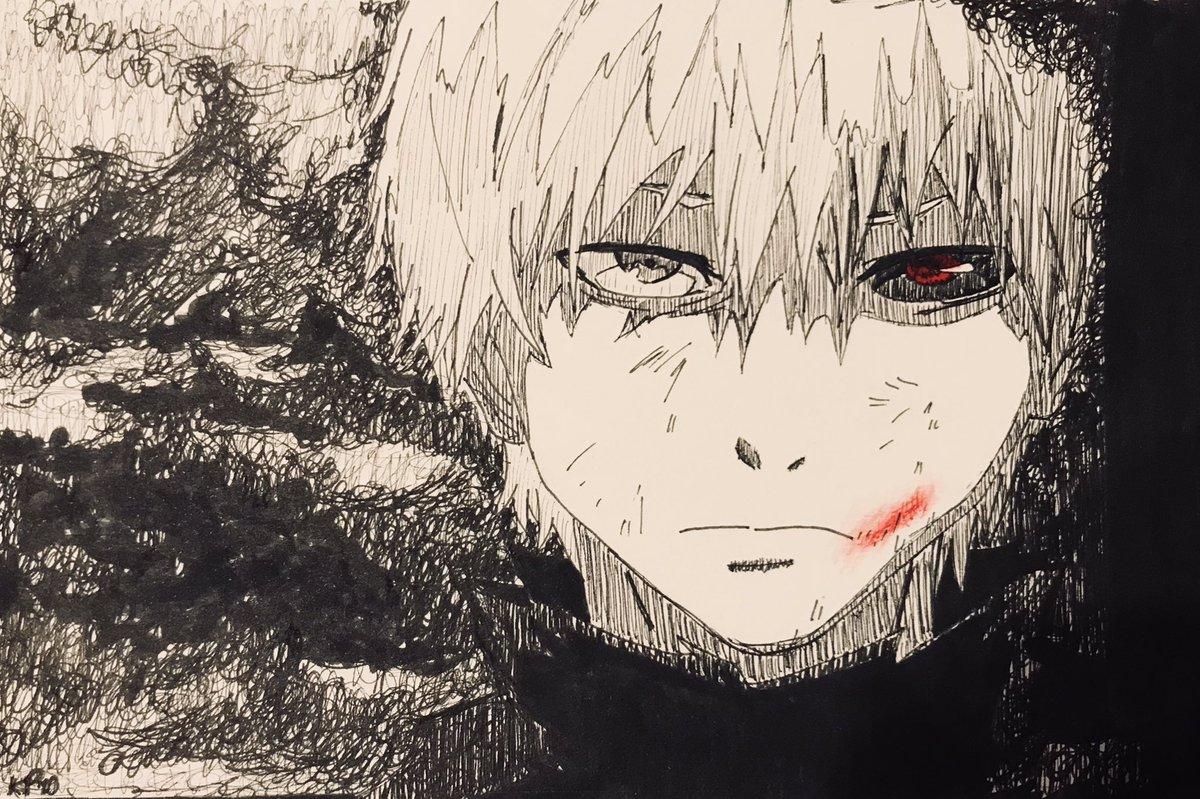 Furious scribbling this afternoon... #TokyoGhoul #kanekiken #manga #inksketch #mangaartpic.twitter.com/BwkhTO1LwX