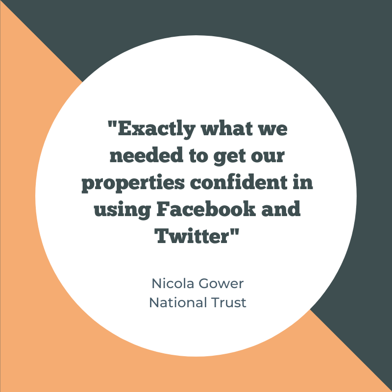 Are you looking for quality social media training in 2020? Here's what the National Trust said following a series of social media workshops with me.  #socialmediatraining #socialmedia #socialmediaworkshops pic.twitter.com/RflZVEOqdb