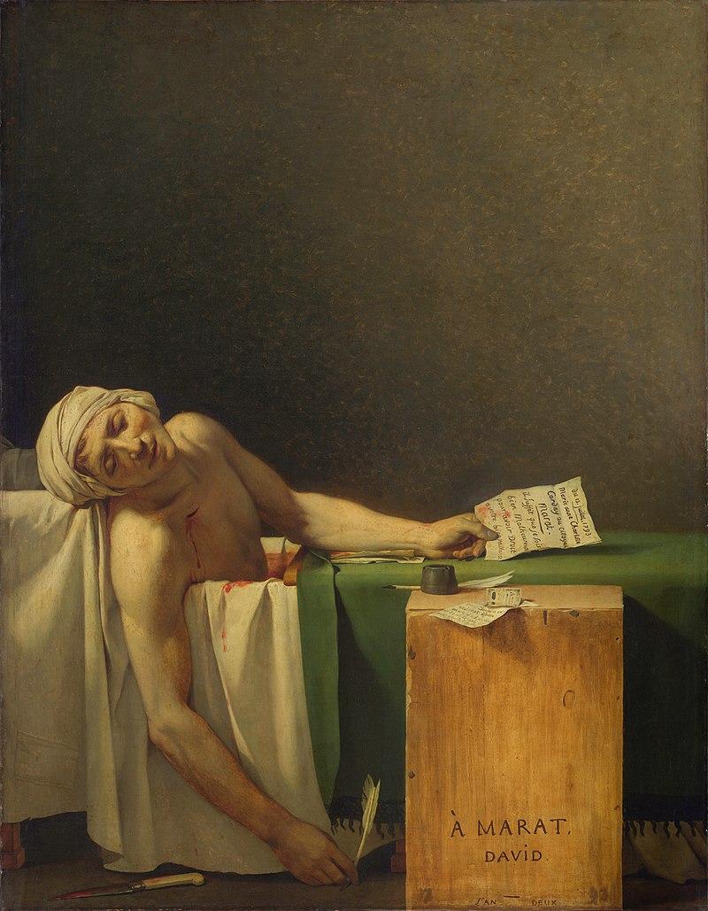 🎨 L'opera d'arte del giorno Jacques-Louis David, La morte di Marat, 1793, Museo Reale delle Belle Arti del Belgio, Bruxelles, Belgio. #CondividiLaCultura