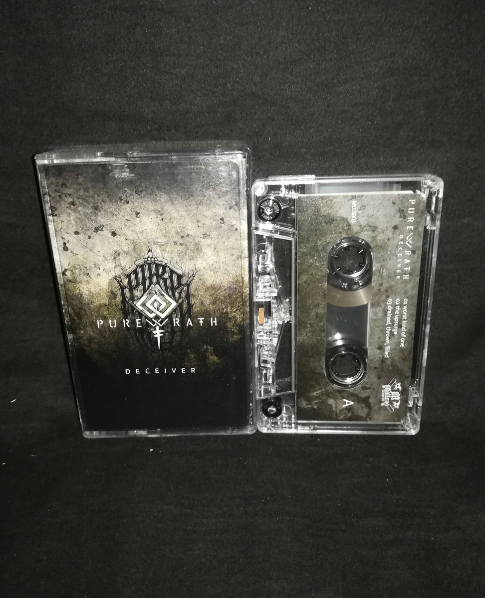 "#PureWrath  ""Deceiver"" ⁠ Limited to 20 copies 4€+postage⁠ ⁠ warproductions@gmail.com⁠ ⁠ http://www.war-productions.org   #WarProductions⁠ #Mailorder⁠ #SupportTheUnderground⁠ #BlackMetalTapes #TapeKvlt⁠ #TapeFormat #TapePorn #BlackMetalCollection pic.twitter.com/DGhNLLakNp"
