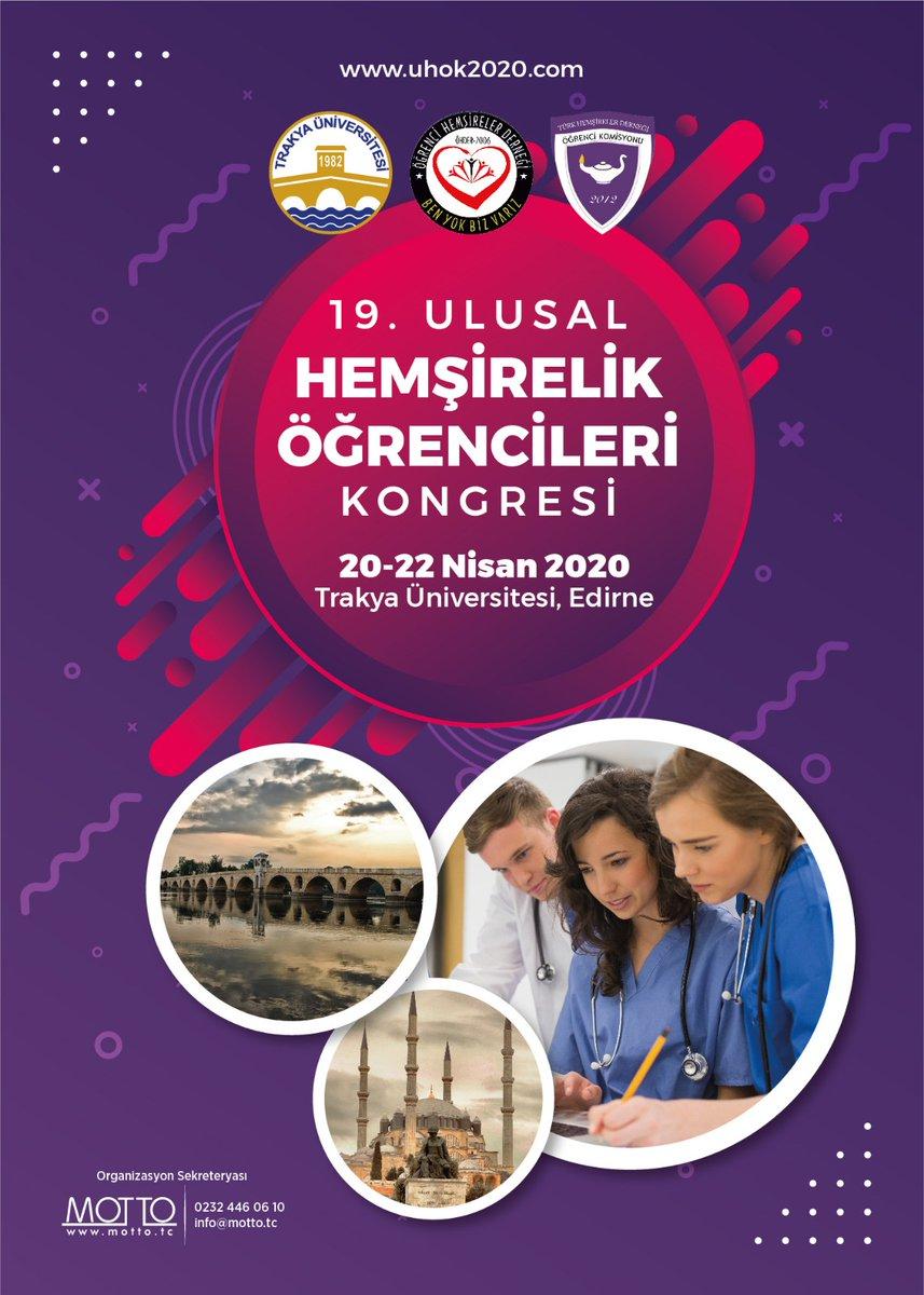 19. Ulusal Hemşirelik Öğrencileri Kongresi afişi