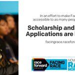 Image for the Tweet beginning: #FacingRace scholarships are awarded based