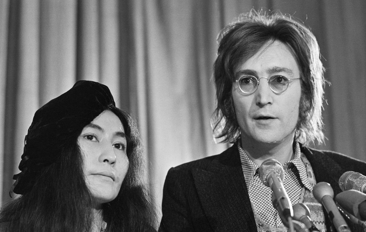 """""""I think John [Lennon] is here with us today...He made good music for the earth and for the universe."""" 🎵 - Two-time GRAMMY winner @yokoono while accepting Album of the Year for 'Double Fantasy,' the fifth album by her John Lennon. #GRAMMYVault"""