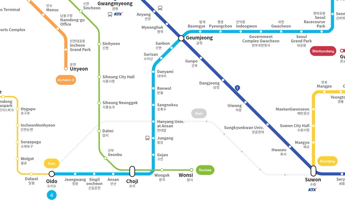 Incheon Subway Map.Kojects On Twitter Seoul Will Extend The Following Subway Lines In 2020 Adding Over 40 Km Of Rail Line 5 Towards Hanam Line 7 For Two Stations Incheon Subway