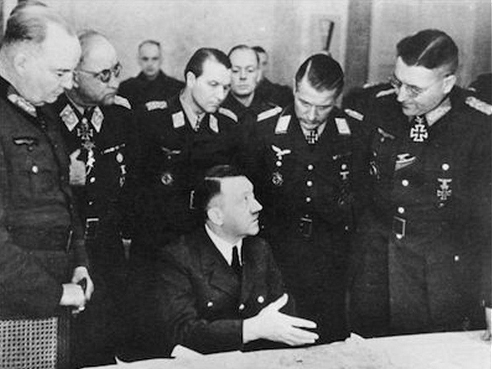 On this day in 1945, an increasingly desperate Adolf Hitler retreats to a concrete bunker deep beneath Berlins bombed out streets. Within 104 days, the Red Army will be in the German capital and the Führer will be dead.
