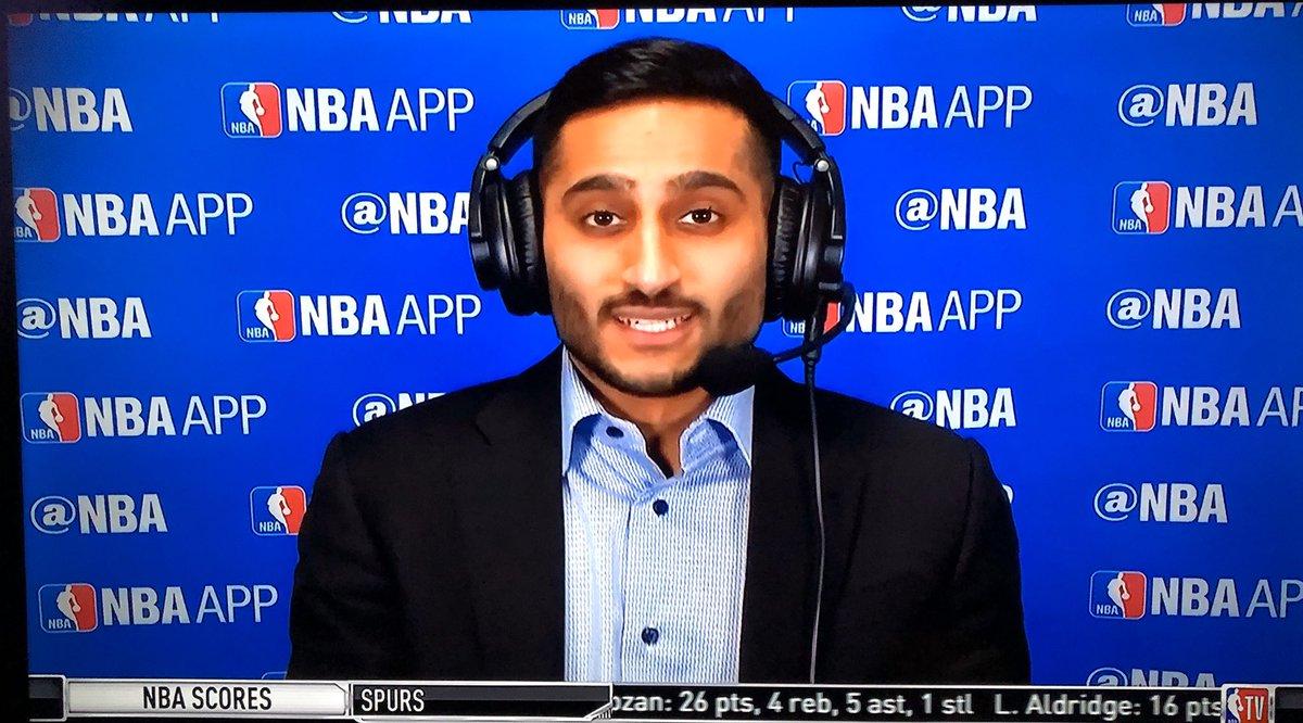 Great to see @ShamsCharania just now on @NBATV!!