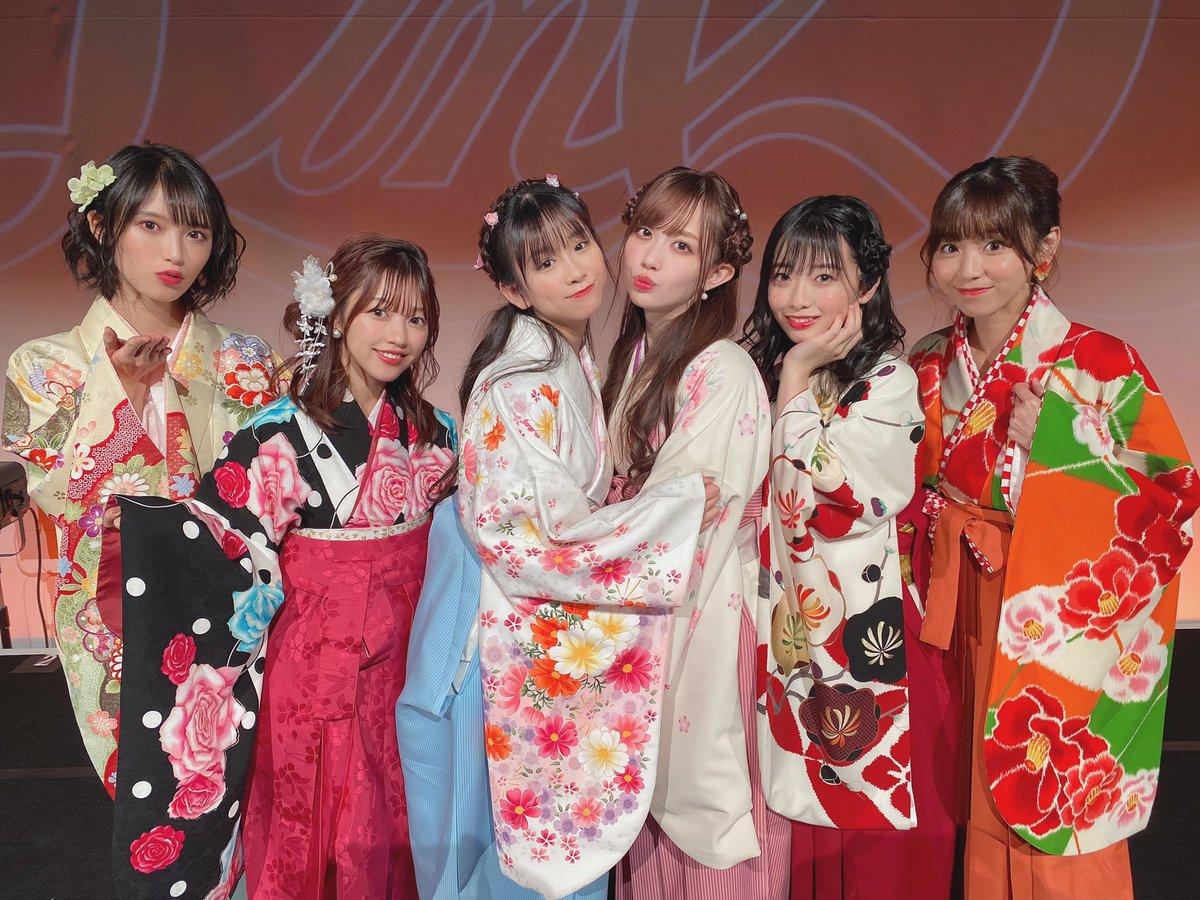 """2020""""LinQ新春SP""""〜今年もよろしくお願いしマウス〜ありがとうございました!🐁💓袴姿はどうでした?中々着らんけんレアレアな日でしたね😊いきつさんも素敵な袴をありがとうございます🙇♂️🙏🏻女の子は是非成人式とか卒業式の参考にしてね✨"""