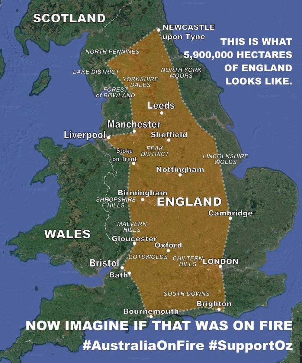 Wow this really puts it in perspective 😱 #PrayForAustralia #AustralianBushfire #AustraliaFires