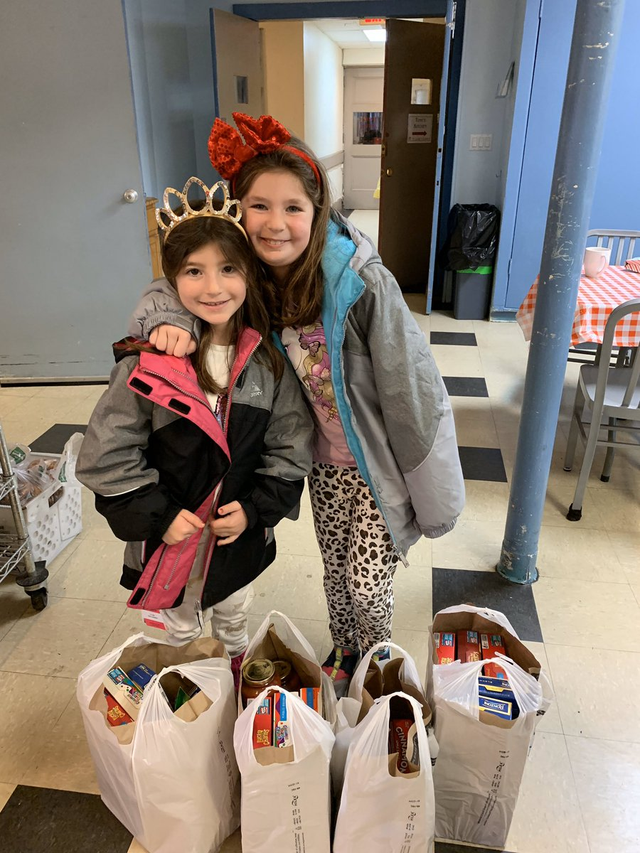 Ella and Ariana went shopping for our backpack program. Thank you!!