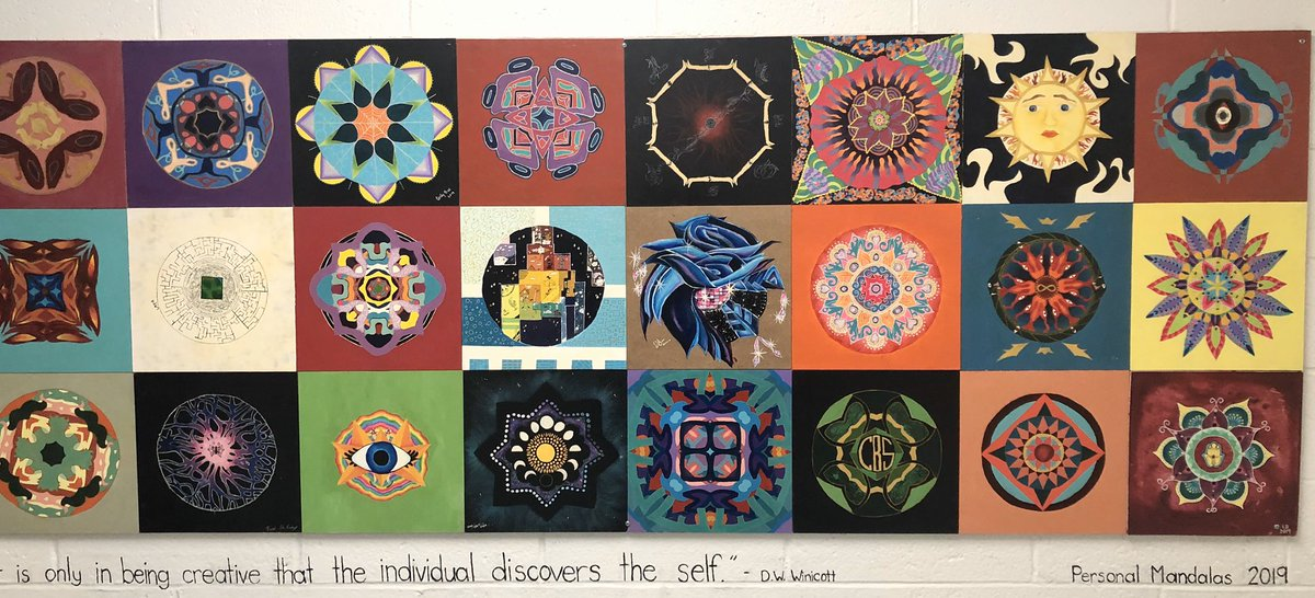 Beautiful Mandalas decorate the walls of our school.   pic.twitter.com/9VpLIr3rZs  by Lou Sylvester