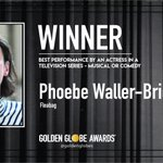 Congratulations to Phoebe Waller-Bridge - Best Performance by an Actress in a Television Series - Musical or Comedy - Fleabag (@fleabag). - #GoldenGlobes