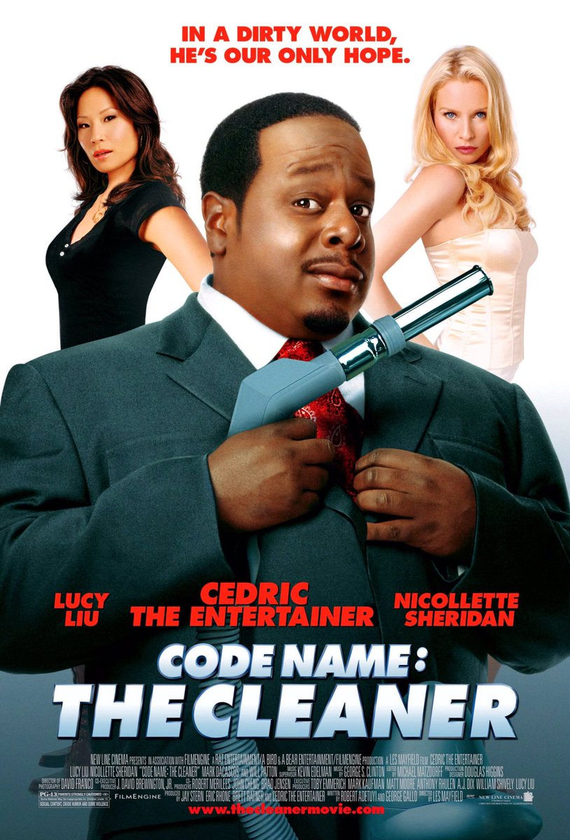 MOVIE HISTORY: 13 years ago today, January 5, 2007, the movie 'Code Name: The Cleaner' opened in theaters!  #CedricTheEntertainer #LucyLiu #NicolletteSheridan #MarkDacascos #CallumKeithRennie #NiecyNash #DeRayDavis #WillPatton #KevinMcNultypic.twitter.com/WjSkdMYgqy