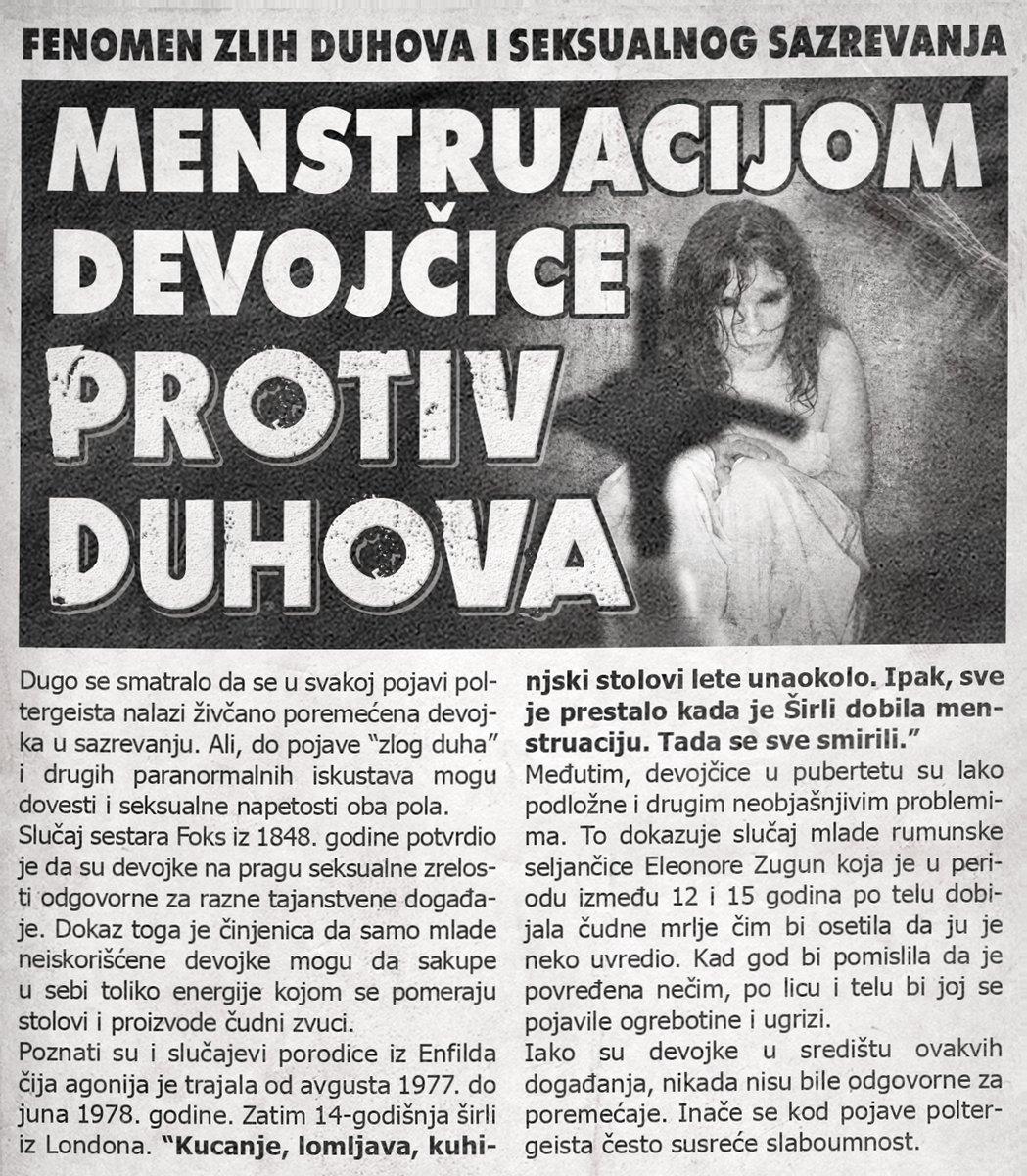 Menstruacijom devojčice protiv duhova