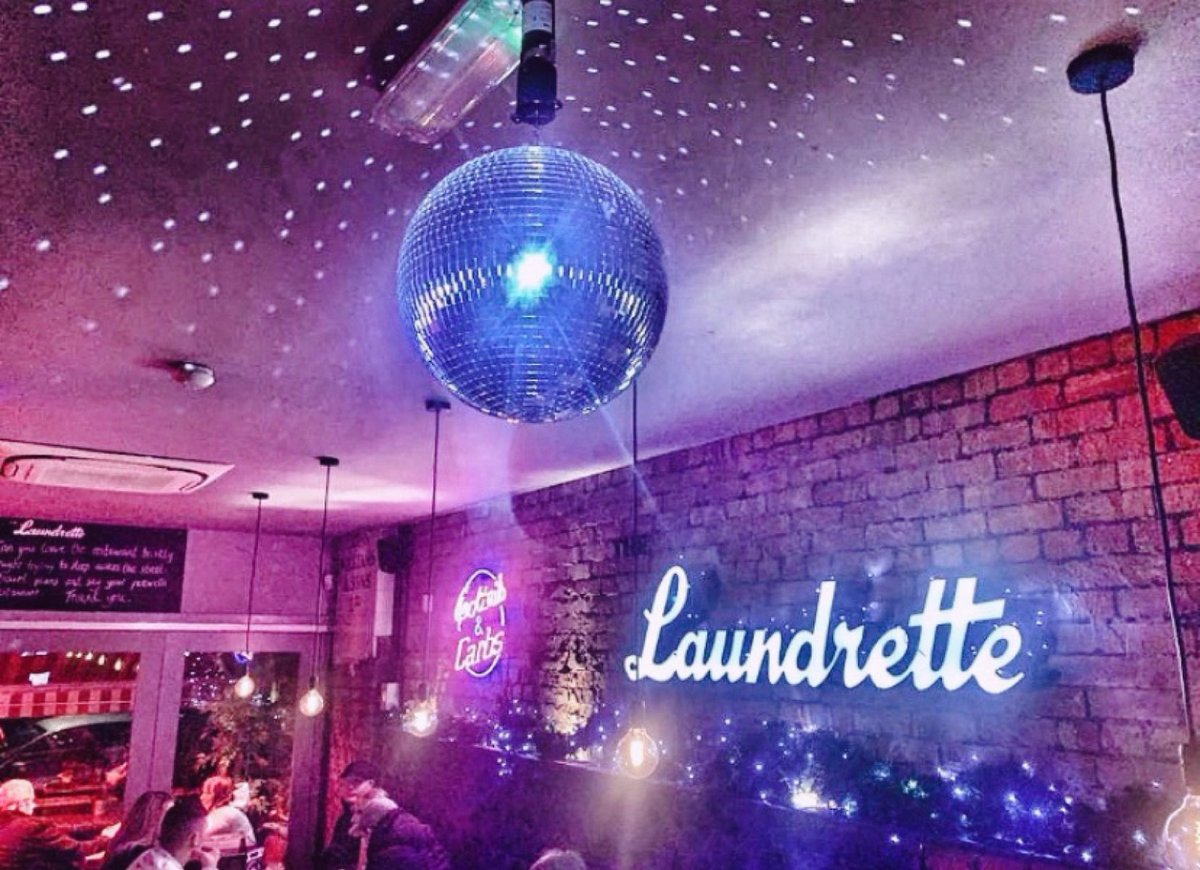 Bad news.... the Christmas decs have to come down tonightGood news.... the disco ball doesn't!! #discoallday #discoallnight #laundrette #disocball #pinkfilter #chorlton #carbs #cocktails #50percentoff #january #newyear #beechroadpic.twitter.com/3eevN6cOXh