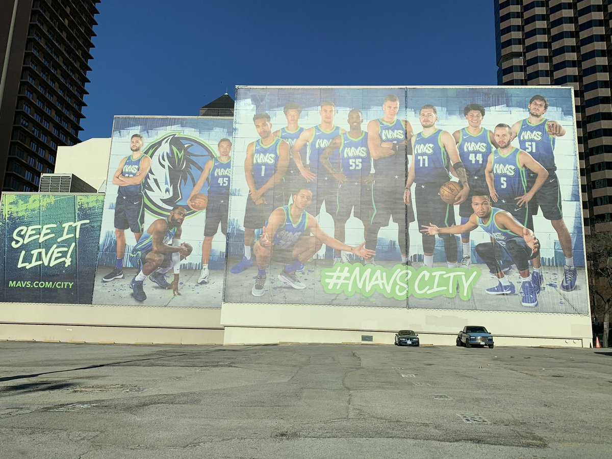 As seen  in downtown Dallas, on the backside of the T.  Boone Pickens YMCA. @dallasmavs #MFFL #Mavs #mavscity – at T. Boone Pickens YMCA