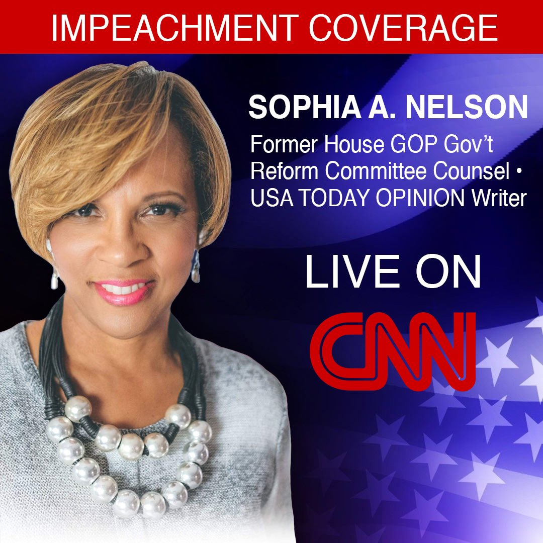 Tune in tonight to watch author of #EPluribusOne @IAmSophiaNelson on @CNN tonight for a special on the pending #ImpeachmentTrial of @realDonaldTrump starts 7pmEDT.<br>http://pic.twitter.com/CvcWGjrABW