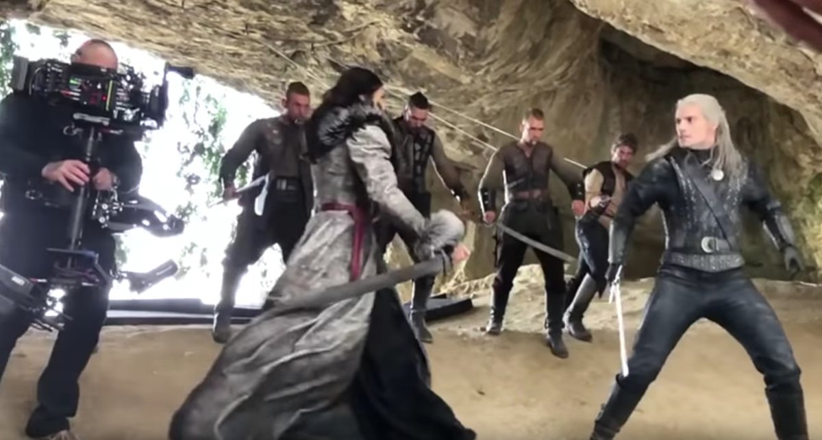 The Witcher's Netflix stunt outtakes are a blast — sometimes literally polygon.com/2020/1/5/21050…