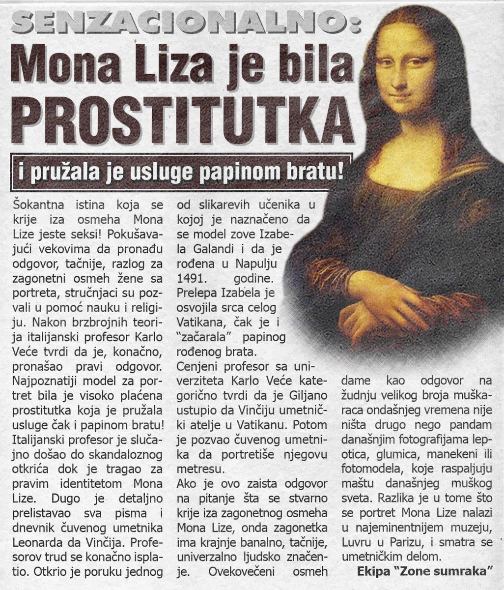 Mona Liza je bila prostitutka