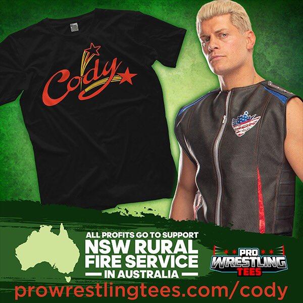 Cody Rhodes Donating His T-Shirt Sales To Help Australia