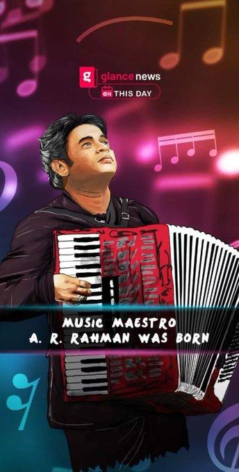 A. R. Rahman was born.  Happy Birthday