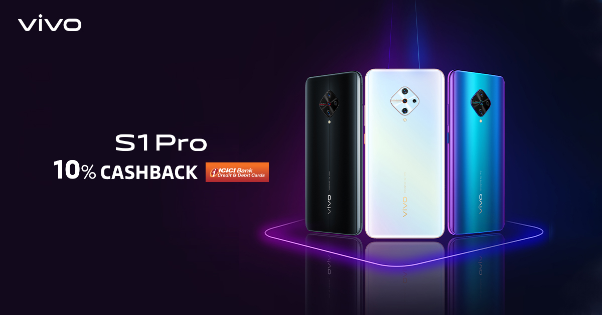 #StyleLikeAPro & Enjoy the #NewYear with our EMI and Cashback offers.Grab the all-new #vivoS1Pro with 48MP AI Quad Rear Camera & 32MP AI Selfie Camera at INR 19,990/ and get One Time Screen Replacement, 10% cahsback on ICICI and much more.Know more : http://bit.ly/2FhaiH1