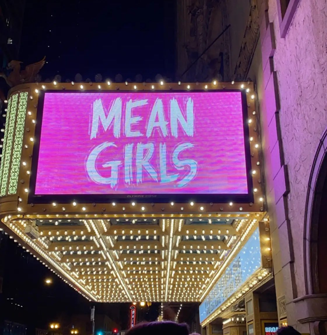 This was worth being super tired for work tomorrow. #SoFetch @MeanGirlsBway