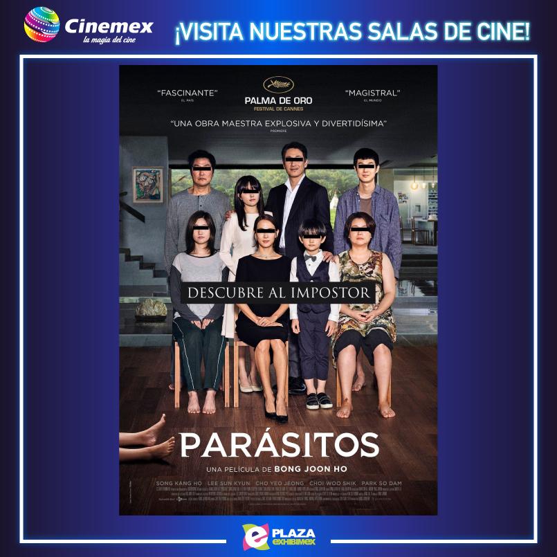 ¡No te vayas a perder ésta historia #Parásitos y disfrútala en nuestras salas de cine en @Cinemex aquí en @PlazaExhibimex! #KanghoSong #SunkyunLee #YeoJeongJo  https://youtu.be/IR-lmw18lTgpic.twitter.com/d4QSrEX6fV