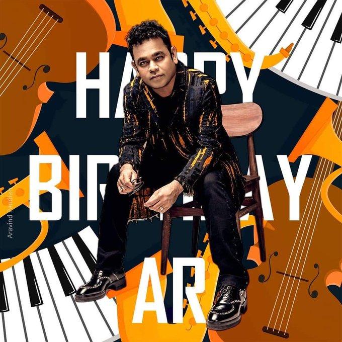 Happy Birthday Isai puyal A.R. Rahman Sir