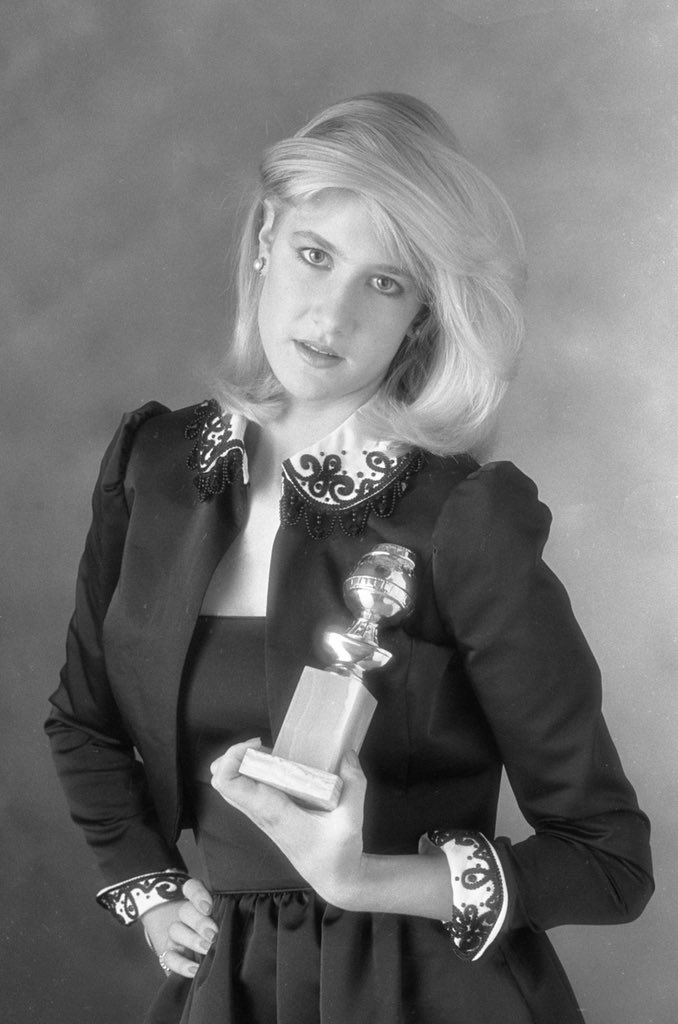Laura Dern serving as Miss Golden Globe at age 15 (!!)